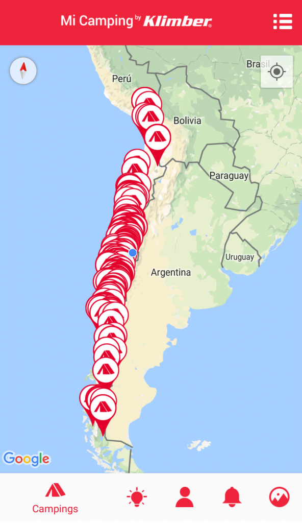 Mi Camping: la app con información de todos los campings de Chile