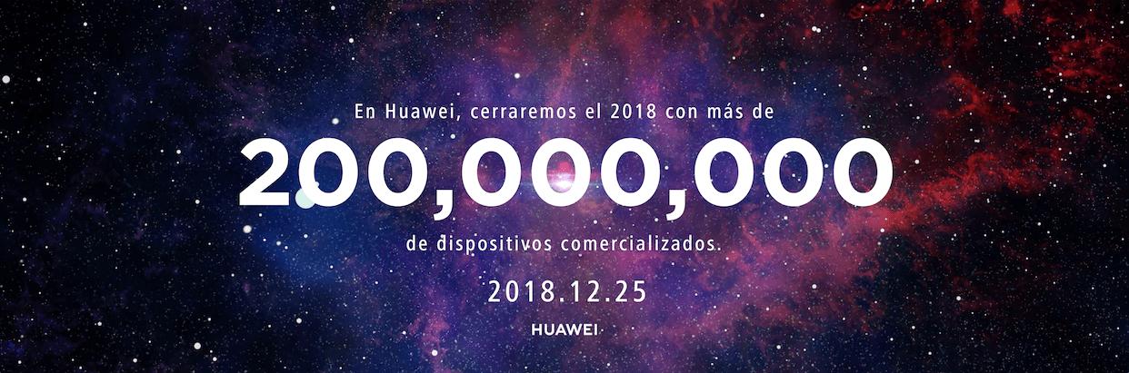 Huawei logra nuevo récord: 200 millones de Smartphones vendidos en 2018