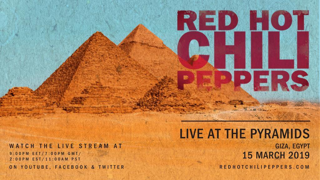 Red Hot Chili Peppers realizará show Egipto este viernes y se podrá ver por internet