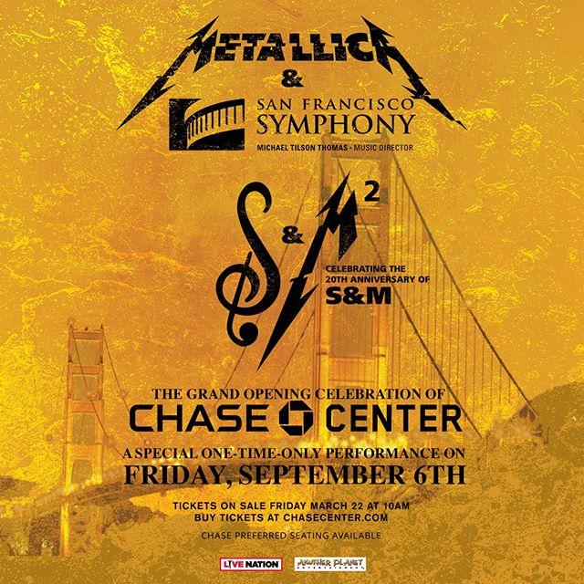 Metallica celebrará 20 años de su disco sinfónico con presentación en San Francisco